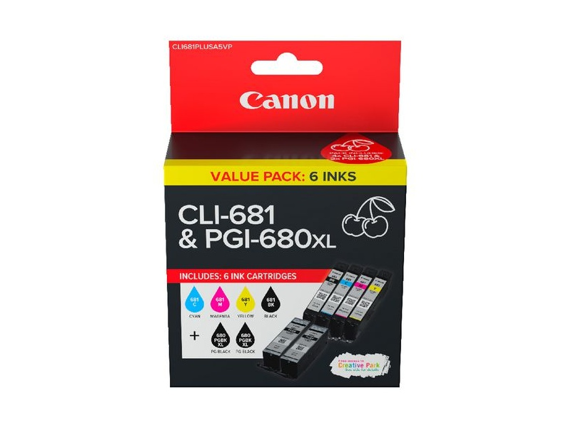 Canon PGI 680XL and CLI 681 Ink Cartridge Value Pack