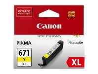 Officeworks Canon CLI 671XL Ink Cartridge Yellow