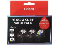 Officeworks Canon PG 640 and CL 641 Ink Cartridge Value 3 Pack