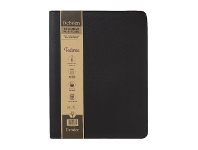 Officeworks Collins Debden A4 Zippered Executive PU Portfolio Black