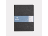 Officeworks Clairefontaine A5 Clothbound Plain Notebook Black