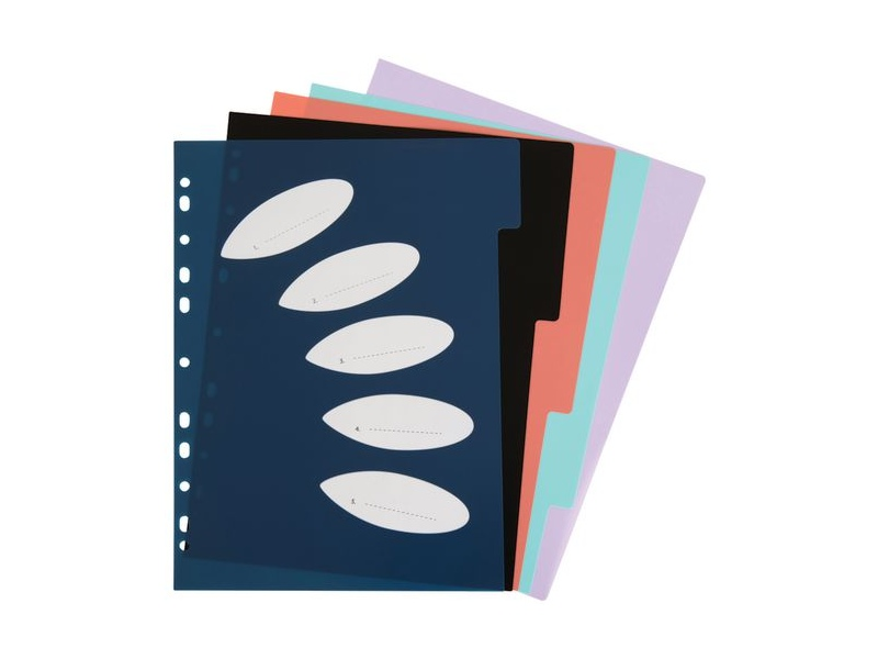 ColourHide Subject Dividers 5 Tab