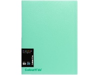 Officeworks Colourhide Display Book Insert Cover 20 Sheets Biscay Green
