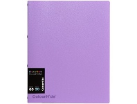 Officeworks Colourhide Refillable Display Book 20 Sheets Lilac