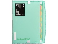Officeworks Colourhide Zip It Expanding File Biscay Green