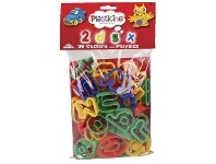 Officeworks Plasticine Cutters Alphabet and Numbers