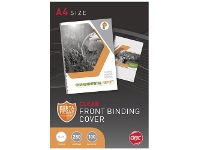 Officeworks GBC A4 Binding Covers 250 Micron Clear 100 Pack
