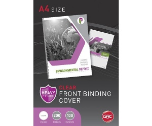 GBC A4 Binding Covers 200 Micron Clear 100 Pack