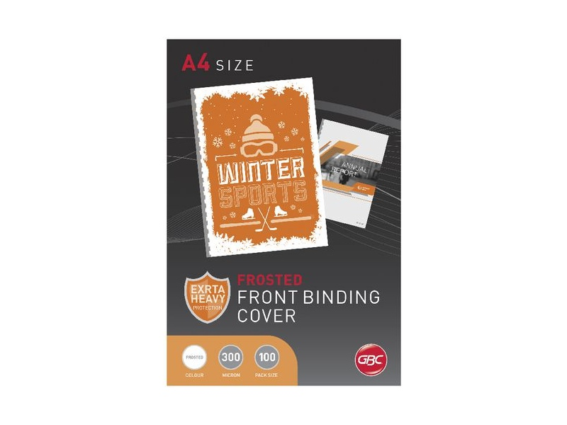 GBC A4 Binding Covers 300micron Frost 100 Pack
