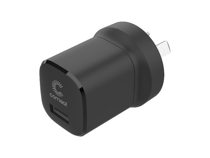 Comsol 12W USB-A Wall Charger Black