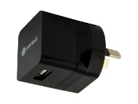 Officeworks Comsol Single Port USB Wall Charger 1A Black