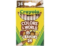 Officeworks Crayola Colours of the World Crayons 24 Pack