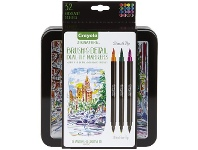 Officeworks Crayola Signature Brush and Detail Markers 16 Pack