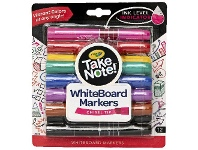Officeworks Crayola Take Note Whiteboard Markers Chisel Assorted 12 Pack
