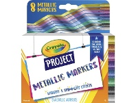 Officeworks Crayola Project Metallic Markers 8 Pack