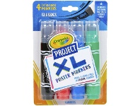 Officeworks Crayola Project XL Poster Markers 4 Pack