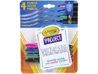 Officeworks Crayola Project Metallic Outline Markers 4 Pack