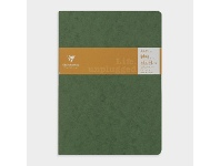 Officeworks Clairefontaine Essentials A4 Lined Notebook Green 2 Pack