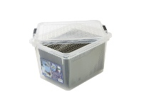 Officeworks Creation Plastics 40L File Store n Stack Clear