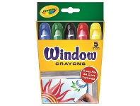 Officeworks Crayola Washable Window Crayons 5 Pack
