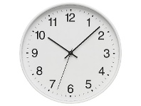 Officeworks Degree Subway 25cm Clock White