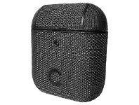 Officeworks Cygnett TekView Case for Airpods 1 and 2 Grey and Black