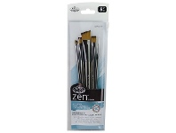 Officeworks Royal & Langnickel Zen Series 73 Paintbrushes Angular 5 Pack
