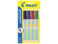 Officeworks Pilot SCA-F Super Colour Permanent Markers Assorted 4 Pack