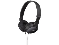 Officeworks Sony On-Ear Headphones Black MDRZX110