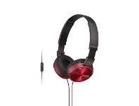 Officeworks Sony Folding Headphones Red ZX310