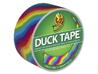 Officeworks Ducktape Duck Printed Duct Tape Rainbow 48mm x 9.1m