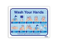 Officeworks DURUS How To Wash Your Hands Wall Sign