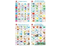 Officeworks Gillian Miles Learning Can Be Fun All About Literacy Poster Box 4 Pack