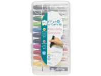 Officeworks First Creations Easi-Grip Crayons 12 Pack