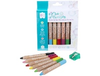 Officeworks First Creations Easi-Grip Wooden Pencils Assorted 6 Pack