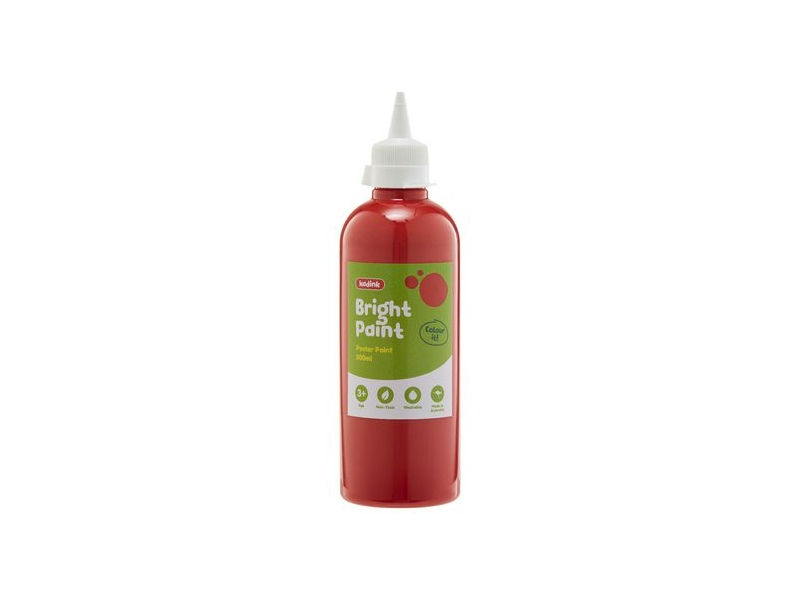 Kadink Washable Bright Poster Paint 500mL Red
