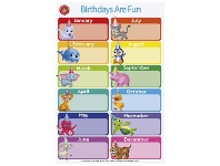 Officeworks Learning Can Be Fun Birthdays Are Fun Double-sided Chart