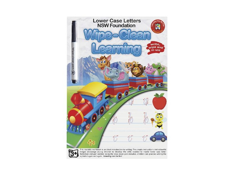 Learning Can Be Fun LCBF Write & Wipe Foundation Lowercase Workbook (NSW & ACT)