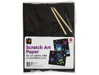 Officeworks Educational Colours Scratch Art A4 Paper 40 Pack