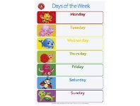 Officeworks Learning Can Be Fun LCBF Days of the Week & Months of the Year Double Sided Chart