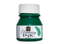 Officeworks Educational Colours Drawing Ink 30mL Emerald