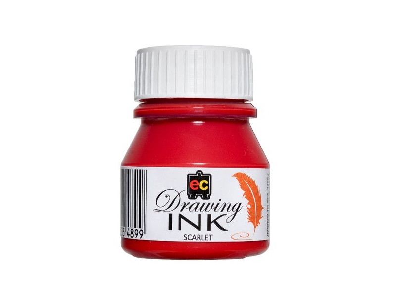Educational Colours Drawing Ink 30mL Scarlet