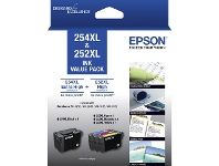 Officeworks Epson 254XL & 252XL Ink Cartridge Value 4 Pack
