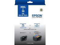 Officeworks Epson 39/39XL Black and Colour Cartridges 4 Pack