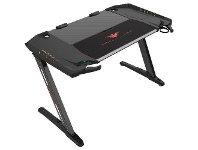 Officeworks AeroCool Eureka Ergonomic PC Gaming Desk Black Z2