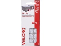 Officeworks VELCRO Brand Hook and Loop Mini Dots 16mm White 15 Pack