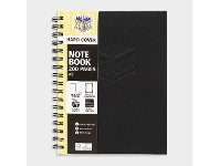 Officeworks Spirax No.511 A5 Hard Covered Notebook 200 Page Black