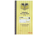 Officeworks Spirax No. 550 Carbonless Telephone Message Book