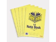 Officeworks Spirax A4 Notebook 120 Pages 5 Pack