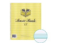 Officeworks Spirax No. 567 60gsm 12 Stave Music Book 30 Page